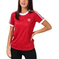 ADIDAS 3-Stripes Tee Red