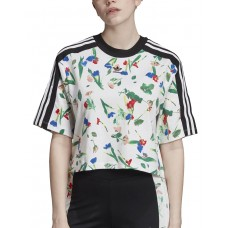 ADIDAS Cropped Allover Print Tee MultiColor