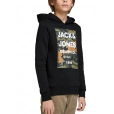 JACK i JONES Boys Logo Hoodie Black