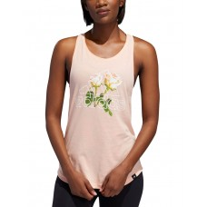 ADIDAS Work In Progress Floral Tank Pink