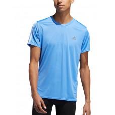 ADIDAS Run It 3-Stripes Tee Blue