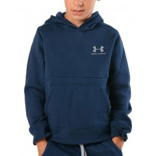 UNDER ARMOUR Eu Cotton Fleece Hoody Navy