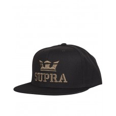 SUPRA Above Snapback Hat Black/Dark Olive