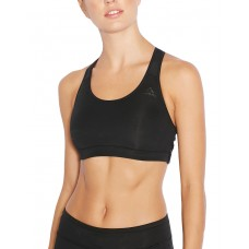 ADIDAS 3 Stripe Racer Back Bra Black