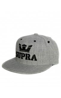 SUPRA Above Snapback Hat Grey/Black
