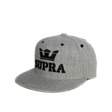 SUPRA Above Snapback Hat Grey/Black