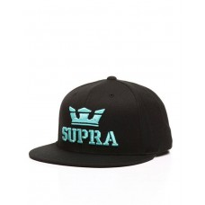 SUPRA Above II Snapback Hat Black/Electric