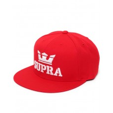 SUPRA Above Snapback Hat Red/White