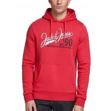 JACK i JONES Superior Regular Fit Hoodie Red