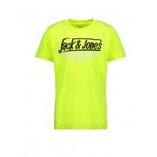 JAJACK i JONES Neon Logo Tee Yellow