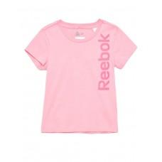 REEBOK Girls Logo Tee Pink