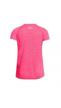 UNDER ARMOUR Girls Novelty Big Logo Tee Pink