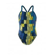 ADIDAS Girls Pro Light Graphic Swim Suit Multi