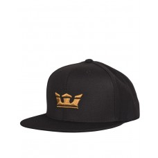 SUPRA Icon Snapback Hat Black/Tan