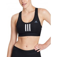 ADIDAS Don't Rest Alphaskin Sport+ Padded 3-Stripes Bra Black