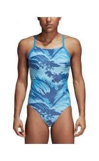 ADIDAS Parley Allover Print Infinitex Swim Suit Blue