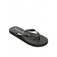 FARAH Classic Shore Mens Flip Flops Black