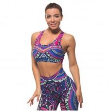 Дамско Бюстие EX FIT Sports Bra Colorful Maori