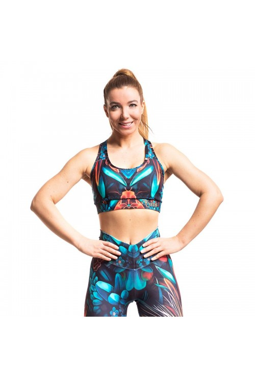 Дамско Бюстие EXCESSWEAR Sports Bra Flower Fantasy