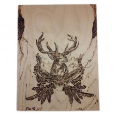 Елен в планината – пирография